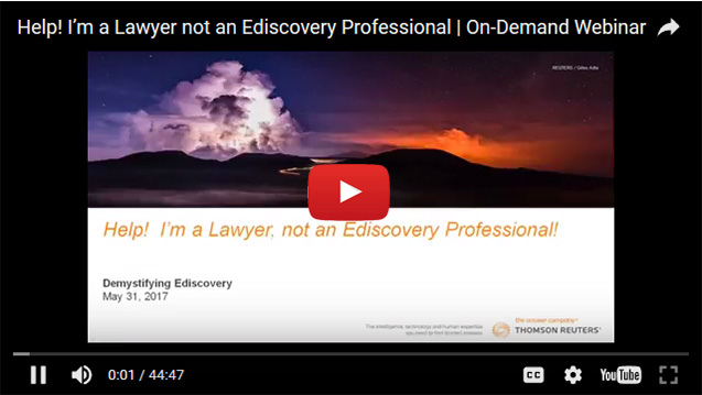 Help! I'm a Lawyer not an Ediscovery Professional